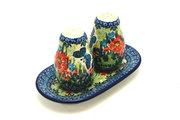 Ceramika Artystyczna Polish Pottery Salt & Pepper Set - Unikat Signature U4553 131-U4553 (Ceramika Artystyczna)