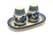 Ceramika Artystyczna Polish Pottery Salt & Pepper Set - Winter Viola 131-2273a (Ceramika Artystyczna)