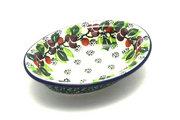 Ceramika Artystyczna Polish Pottery Soap Dish - Burgundy Berry Green 510-1415a (Ceramika Artystyczna)