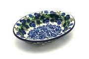 Ceramika Artystyczna Polish Pottery Soap Dish - Huckleberry 510-1413a (Ceramika Artystyczna)