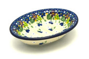 Ceramika Artystyczna Polish Pottery Soap Dish - Plum Luck 510-2509a (Ceramika Artystyczna)
