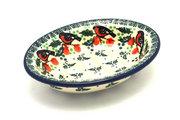 Ceramika Artystyczna Polish Pottery Soap Dish - Red Robin 510-1257a (Ceramika Artystyczna)