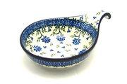 Ceramika Artystyczna Polish Pottery Spoon/Ladle Rest - Blue Clover 174-1978a (Ceramika Artystyczna)