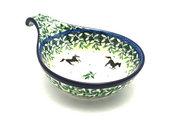 Ceramika Artystyczna Polish Pottery Spoon/Ladle Rest - Dark Horse 174-2241a (Ceramika Artystyczna)