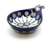 Ceramika Artystyczna Polish Pottery Spoon/Ladle Rest - Peacock 174-054a (Ceramika Artystyczna)