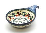 Ceramika Artystyczna Polish Pottery Spoon/Ladle Rest - Red Robin 174-1257a (Ceramika Artystyczna)