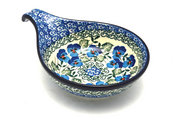 Ceramika Artystyczna Polish Pottery Spoon/Ladle Rest - Winter Viola 174-2273a (Ceramika Artystyczna)