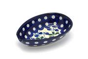 Ceramika Artystyczna Polish Pottery Spoon Rest - Bleeding Heart 381-377o (Ceramika Artystyczna)