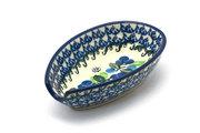 Ceramika Artystyczna Polish Pottery Spoon Rest - Blue Berries 381-1416a (Ceramika Artystyczna)