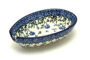 Ceramika Artystyczna Polish Pottery Spoon Rest - Blue Clover 381-1978a (Ceramika Artystyczna)