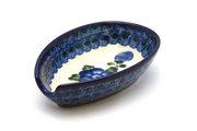 Ceramika Artystyczna Polish Pottery Spoon Rest - Blue Poppy 381-163a (Ceramika Artystyczna)