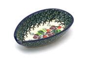 Ceramika Artystyczna Polish Pottery Spoon Rest - Burgundy Berry Green 381-1415a (Ceramika Artystyczna)