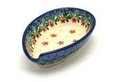 Ceramika Artystyczna Polish Pottery Spoon Rest - Cherry Jubilee 381-2284a (Ceramika Artystyczna)