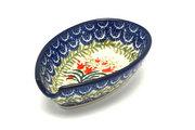 Ceramika Artystyczna Polish Pottery Spoon Rest - Crimson Bells 381-1437a (Ceramika Artystyczna)