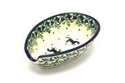 Ceramika Artystyczna Polish Pottery Spoon Rest - Dark Horse 381-2241a (Ceramika Artystyczna)