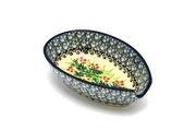 Ceramika Artystyczna Polish Pottery Spoon Rest - Holly Berry 381-1734a (Ceramika Artystyczna)
