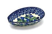 Ceramika Artystyczna Polish Pottery Spoon Rest - Huckleberry 381-1413a (Ceramika Artystyczna)