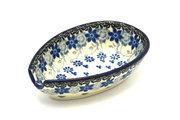 Ceramika Artystyczna Polish Pottery Spoon Rest - Silver Lace 381-2158a (Ceramika Artystyczna)