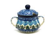 Ceramika Artystyczna Polish Pottery Sugar Bowl - Antique Rose 035-1390a (Ceramika Artystyczna)