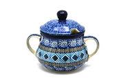Ceramika Artystyczna Polish Pottery Sugar Bowl - Aztec Sky 035-1917a (Ceramika Artystyczna)