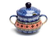 Ceramika Artystyczna Polish Pottery Sugar Bowl - Aztec Sun 035-1350a (Ceramika Artystyczna)