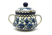 Ceramika Artystyczna Polish Pottery Sugar Bowl - Blue Chicory 035-976a (Ceramika Artystyczna)