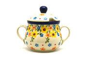 Ceramika Artystyczna Polish Pottery Sugar Bowl - Buttercup 035-2225a (Ceramika Artystyczna)