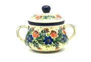 Ceramika Artystyczna Polish Pottery Sugar Bowl - Garden Party 035-1535a (Ceramika Artystyczna)