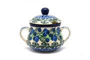 Ceramika Artystyczna Polish Pottery Sugar Bowl - Huckleberry 035-1413a (Ceramika Artystyczna)