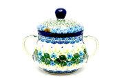 Ceramika Artystyczna Polish Pottery Sugar Bowl - Ivy Trail 035-1898a (Ceramika Artystyczna)
