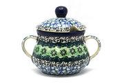 Ceramika Artystyczna Polish Pottery Sugar Bowl - Kiwi 035-1479a (Ceramika Artystyczna)
