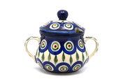 Ceramika Artystyczna Polish Pottery Sugar Bowl - Peacock 035-054a (Ceramika Artystyczna)