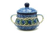 Ceramika Artystyczna Polish Pottery Sugar Bowl - Peacock Feather 035-1513a (Ceramika Artystyczna)