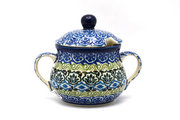 Ceramika Artystyczna Polish Pottery Sugar Bowl - Tranquility 035-1858a (Ceramika Artystyczna)