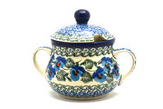 Ceramika Artystyczna Polish Pottery Sugar Bowl - Winter Viola 035-2273a (Ceramika Artystyczna)