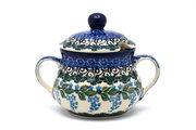 Ceramika Artystyczna Polish Pottery Sugar Bowl - Wisteria 035-1473a (Ceramika Artystyczna)
