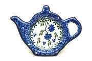 Ceramika Artystyczna Polish Pottery Tea Bag Holder - Blue Clover 766-1978a (Ceramika Artystyczna)