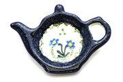 Ceramika Artystyczna Polish Pottery Tea Bag Holder - Blue Spring Daisy 766-614a (Ceramika Artystyczna)