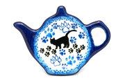 Ceramika Artystyczna Polish Pottery Tea Bag Holder - Boo Boo Kitty 766-1771a (Ceramika Artystyczna)