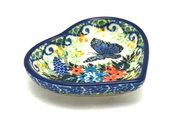 Ceramika Artystyczna Polish Pottery Tea Bag Holder - Heart - Unikat Signature - U4600 B64-U4600 (Ceramika Artystyczna)