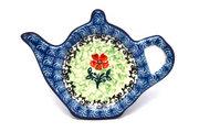 Ceramika Artystyczna Polish Pottery Tea Bag Holder - Maraschino 766-1916a (Ceramika Artystyczna)