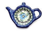 Ceramika Artystyczna Polish Pottery Tea Bag Holder - Morning Glory 766-1915a (Ceramika Artystyczna)