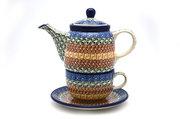 Ceramika Artystyczna Polish Pottery Tea Time for One - Autumn 423-050a (Ceramika Artystyczna)