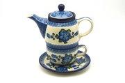 Ceramika Artystyczna Polish Pottery Tea Time for One - Blue Poppy 423-163a (Ceramika Artystyczna)