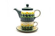 Ceramika Artystyczna Polish Pottery Tea Time for One - Daffodil 423-2122q (Ceramika Artystyczna)