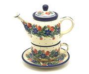 Ceramika Artystyczna Polish Pottery Tea Time for One - Garden Party 423-1535a (Ceramika Artystyczna)