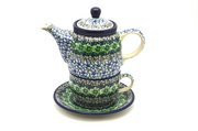 Ceramika Artystyczna Polish Pottery Tea Time for One - Kiwi 423-1479a (Ceramika Artystyczna)