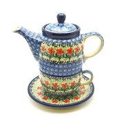 Ceramika Artystyczna Polish Pottery Tea Time for One - Maraschino 423-1916a (Ceramika Artystyczna)