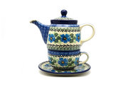Ceramika Artystyczna Polish Pottery Tea Time for One - Morning Glory 423-1915a (Ceramika Artystyczna)