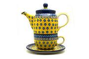 Ceramika Artystyczna Polish Pottery Tea Time for One - Sunburst 423-859a (Ceramika Artystyczna)